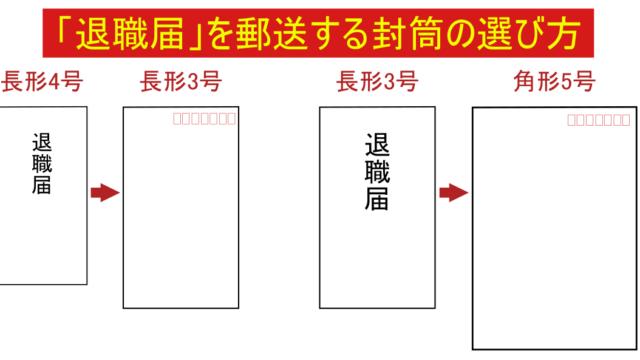 「退職届」を郵送する封筒の選び方