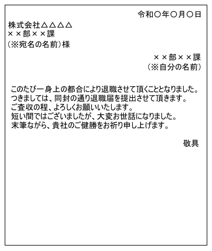 添え状の例文
