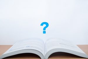 本と疑問符