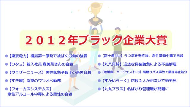2012年ブラック企業大賞