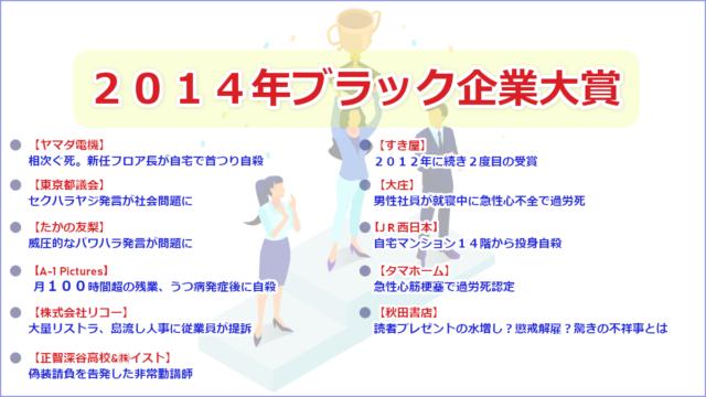 2014年ブラック企業大賞
