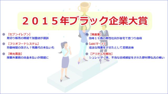 2015年ブラック企業大賞